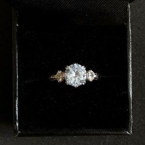 EUC Tacori Blue Diamonique Ring